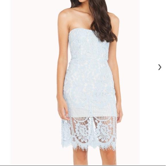 24a431a9a86e7 AKIRA Dresses   525 Sale Baby Blue Lace Strapless Dress   Poshmark